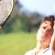 テニスと目とサングラスの関係は重要。