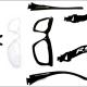 スポーツチャンバラ等の屋内/屋外兼用メガネ&サングラス。