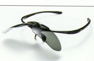 跳ね上げ式サングラスに、偏光レンズを装着したとても快適なサングラスのご紹介。