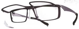 スポーツグラス度入りに適した跳ね上げメガネフレームは、ウォーキング時にとても便利なスポーツメガネ。