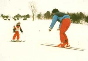 度付きゴーグルで親子でスキー