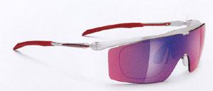 度入りスポーツグラスに適した跳ね上げメガネフレームは、釣り時にとても便利なスポーツメガネ。