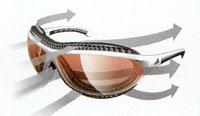 登山用度付きサングラス