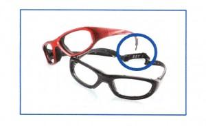 こども用度入り保護眼鏡サッカーのテンプル特徴