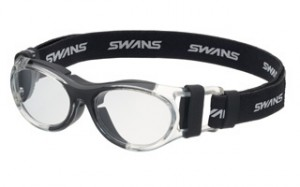 フレームカラー:ブラックバスケットボールメガネ