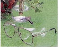 スポーツどきの子供用花粉症対策カバーとして現在の使用されているメガネに取付