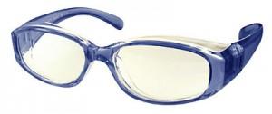 スポーツどきのこども用花粉症対策カバーとして現在の使用されているメガネに取付