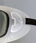 メガネをかけている登山どきのドライアイ対策に度付き対応フレームのご紹介。
