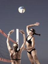ビーチバレーボル用サングラス&スポーツサングラス&ビーチバレーボール