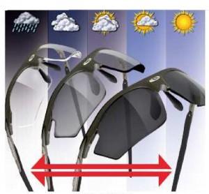 色が変わるサングラスを調光レンズと言います。度付き調光サングラスとしても可能です。