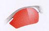 ロードバイク用サングラスに度つき可能なインナーフレームが取り付けることができます。