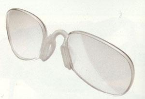 スポーツサングラステニス用を、眼鏡が必要な方にも簡単に使用できるスポーツサングラス
