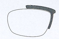 スポーツメガネとふだんメガネ、サングラスを1本のフレームで可能にしたスポーツメガネ