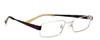 ゴルフどきの遠近両用眼鏡とふだんの遠近両用眼鏡を兼用で快適に掛けられるメガネです。