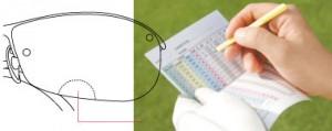 ゴルフ用メガネ、ゴルフ用度付きサングラスを1本のゴルフ専用メガネとして検討下さい。
