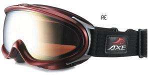 女性向きの大きなメガネを掛けたまま装用できるスキー用ゴーグルのご紹介。