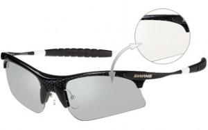 高校野球にも装用できる安全で掛けやすいサングラス、度つきサングラスの紹介。