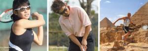 スポーツメガネの跳ね上げはゴルフ、釣り、ウォーキング時に便利なフレームです。