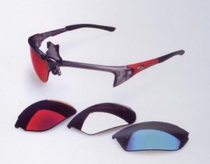自転車用度付きサングラス、ロードバイク度付きサングラスはカラー選びが重要。