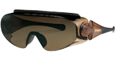 登山どきの眼鏡を掛けている方の便利なオーバーサングラスのご紹介。