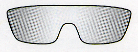 スポーツグラスには、サングラスやメガネやゴーグルが度つきスポーツグラスが可能です。