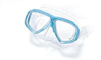ダイビングマスク度入りの製作は、水中と水上での見え方を考慮して度数を決定