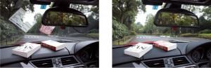 偏光グラスの精度は、偏光レンズの製法技術によって見え方に違いがある。