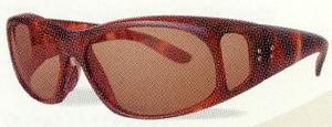 眩しさの原因になる短い波長の光を効果的にカットできる遮光用サングラス。
