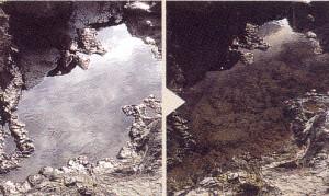 つりどきの水面の反射を抑えることで水底がハッキリする偏光サングラスのご提案。