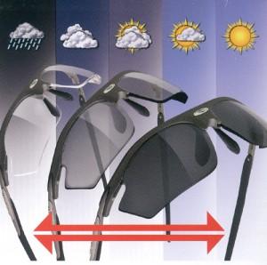 スポーツ用サングラスに調光機能を備えた偏光サングラスがあります。