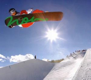 スノーボードとゴーグル
