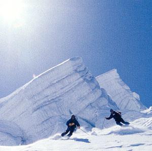 スキーとゴーグル