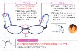こどもに適したスポーツどきのメガネ兼用ふだんめがねのご提案