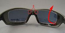めがねを掛けている方の度つきスポーツ用サングラスのご提案眼鏡専門ショップ。