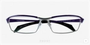 ファッショナブルなメガネデザインにスポーティさを加味した度付きスポーツメガネ。