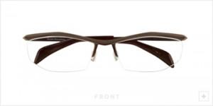 ファッショナブルなメガネデザインにスポーティさを加味した度つきスポーツメガネ。