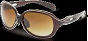 レディース向きウォーキング用サングラスデザインに偏光レンズをセットしました。