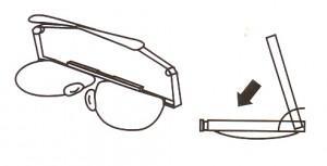 折りたたみ式メガネフレームは旅行やお買物どきにバックに収納でき便利です