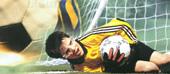 サッカーにおける子どもゴールキーパ用メガネ
