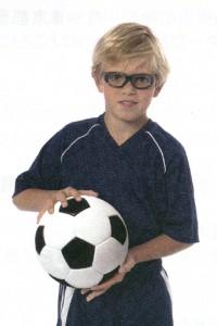 中学生のサッカーどきの度付きゴーグル