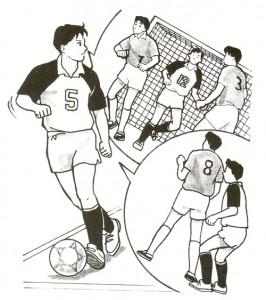 サッカー時の瞬間視は大切