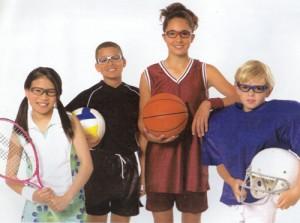 ジュニアスポーツゴーグル度入りは様々なスポーツで装用可能