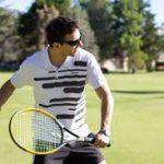 テニス用度付きスポーツサングラス
