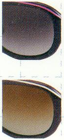 数少ないハーフカラーの偏光レンズ