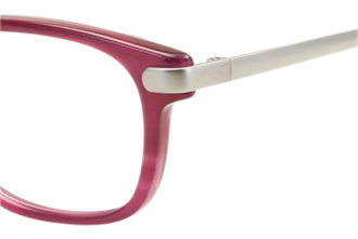 蝶番のネジ緩みを防止した子供用メガネ