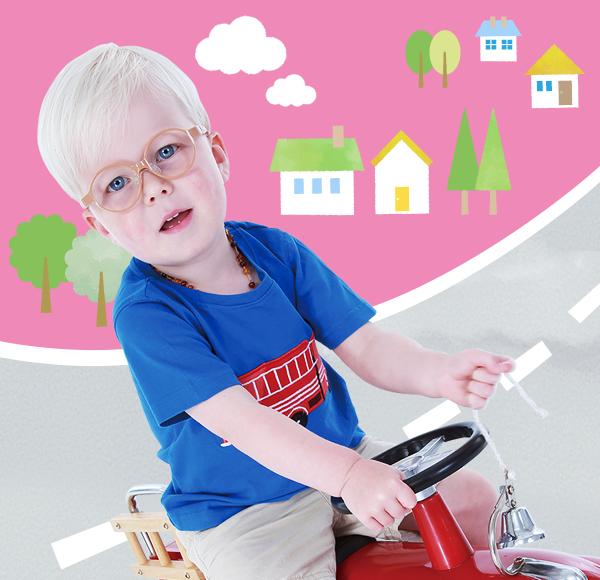 治療を目的にした子供用メガネ枠