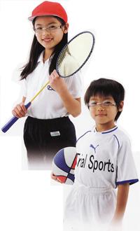 競技に合った子供用スポーツメガネ