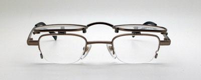 複式跳ね上げ式メガネ